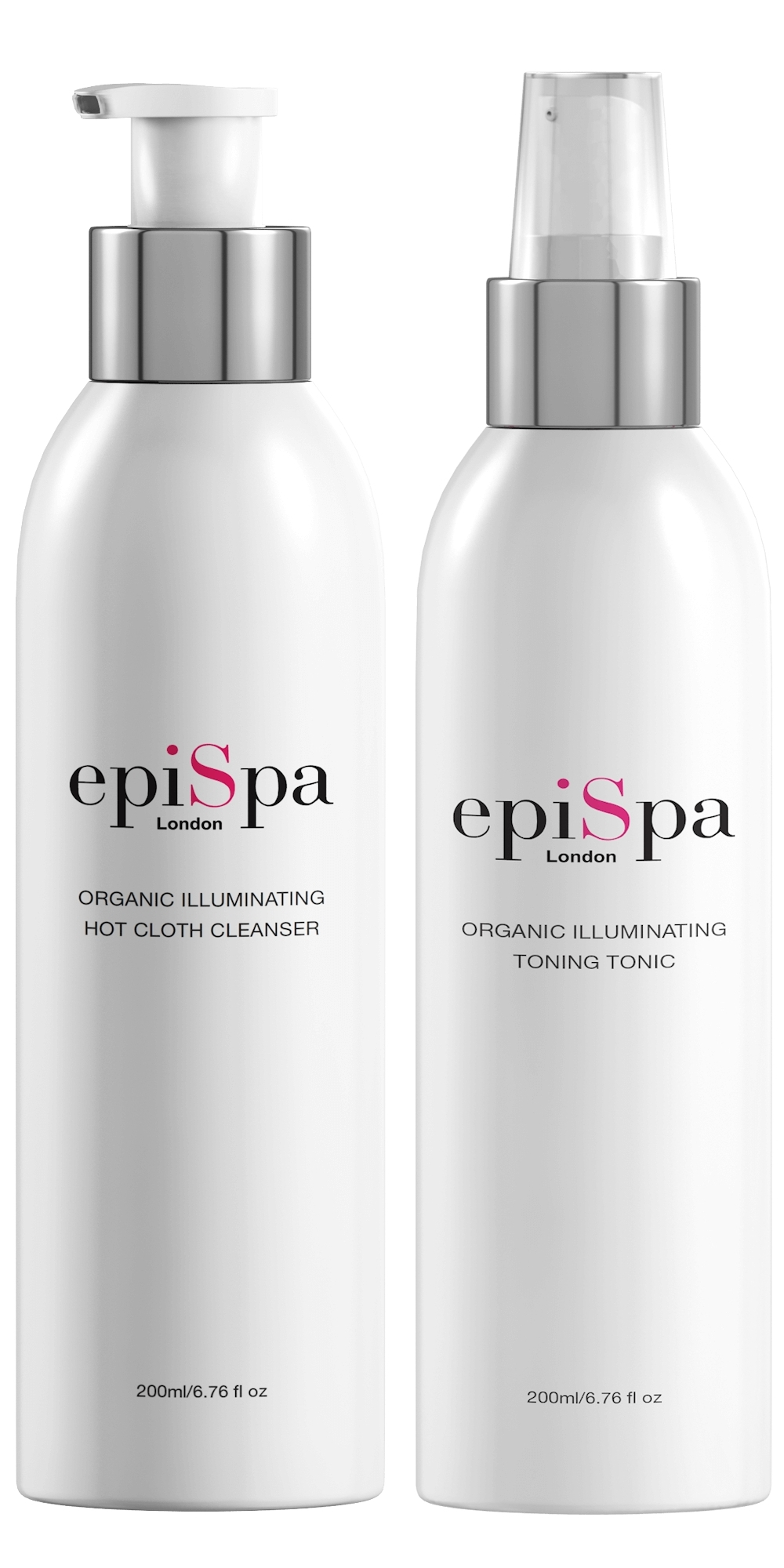 Organic Illuminating Hot Cloth Cleanser & Toning Tonic Duo